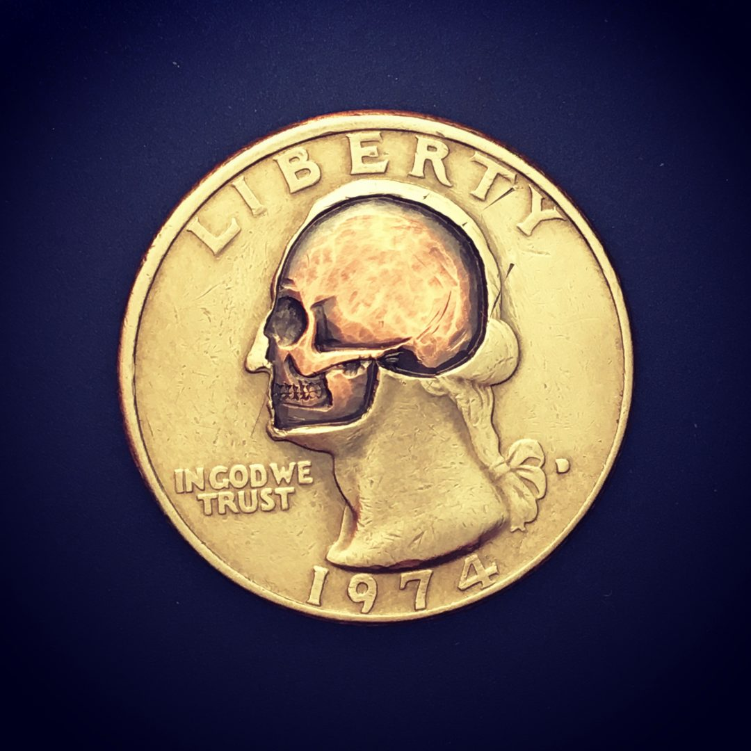 Washington Skull Quarter