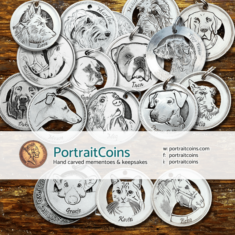 Portrait coins and pendants - Neil Turner